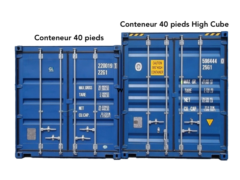 maison container 40 pieds high cube.