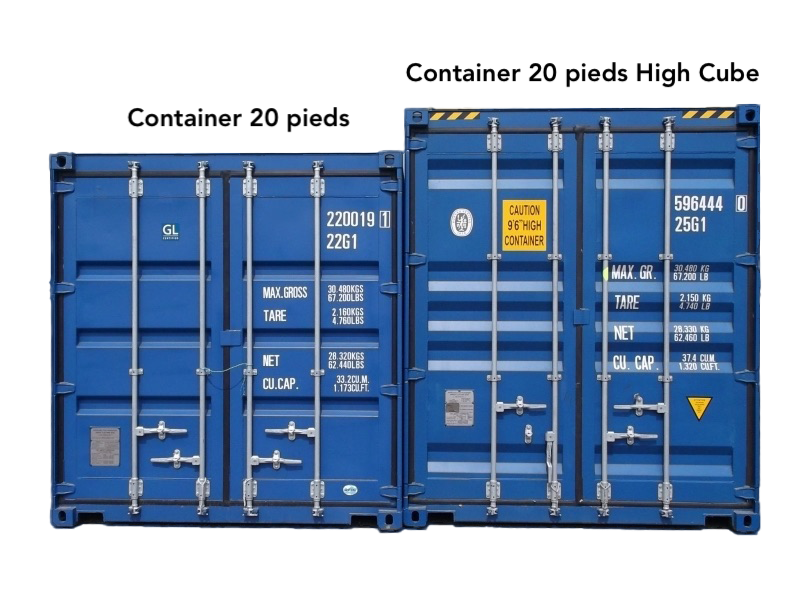 maison container 20 pieds high cube