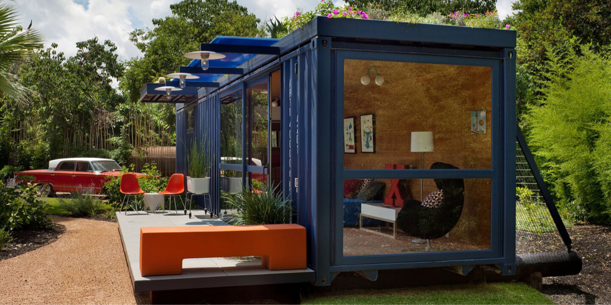Maisons container au Texas.