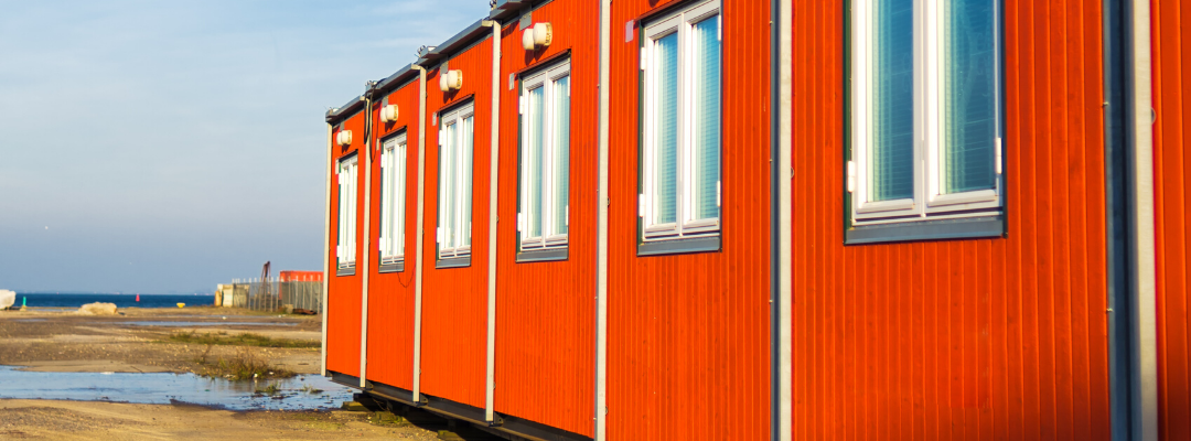 Maison Container rouge.